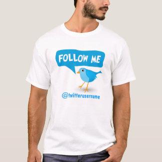 Volg me Leuke Tjilpen Weinig Blauwe Vogel van de T Shirt