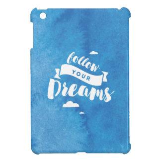 Volg Uw Blauwe Waterverf van Dromen iPad Mini Hoesje