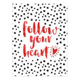 Volg Uw Citaat van het Hart Briefkaart