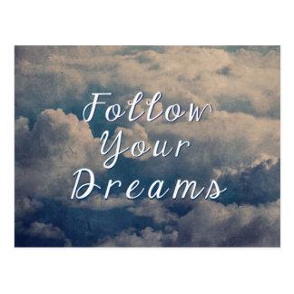 Volg Uw Dromen Briefkaart