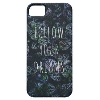 Volg Uw Dromen die Citaat inspireren Barely There iPhone 5 Hoesje