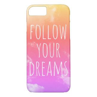 Volg Uw Dromen die iPhone van het Citaat iPhone 8/7 Hoesje