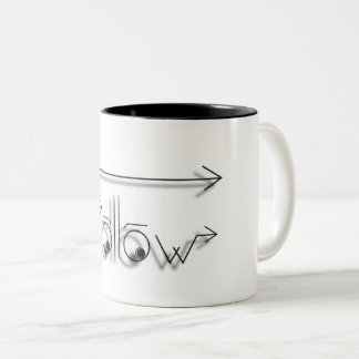 Volg Uw Droom! Tweekleurige Koffiemok