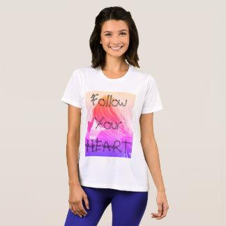 Volg uw hart, de t-shirt van Witte vrouwen
