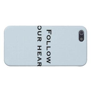 Volg uw hart iPhone 5 hoesjes