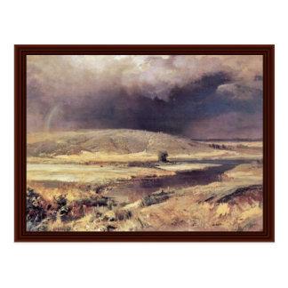 Volga Lagunes door Wassiljew Fjodor Briefkaart