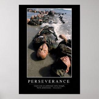 Volharding: Inspirerend Citaat Poster