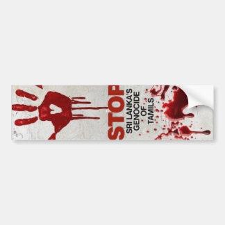 Volkerenmoord van Tamils Bumpersticker