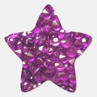 Volkomen Roze Kristallen Ster Sticker
