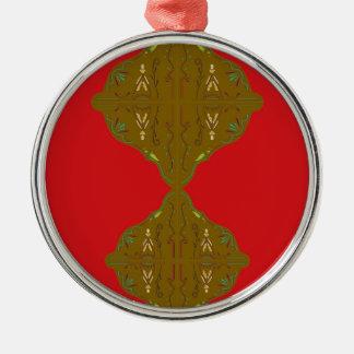 Volks de ornamenten bruin rood van de luxe