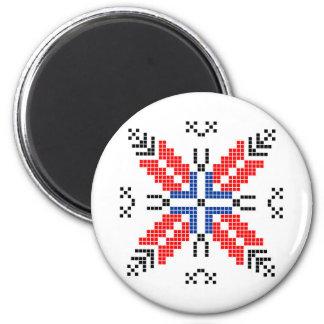 volks etnisch het motief traditioneel symbool van magneet