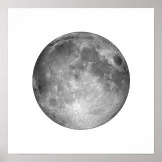 Volle maan in het Witte Grote Poster van de Hemel