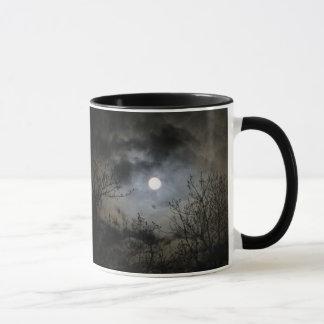 Volle maan op een Mystieke Donkere Nacht Mok
