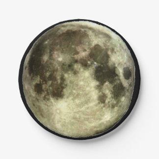 Volle maan papieren bordje