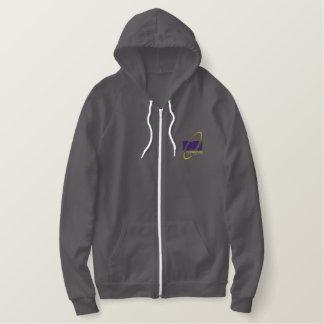 Volledige het pitvacht van het mannen geborduurde fleece hoodie