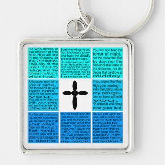 Volledige Psalm 91 Keychain Sleutelhanger