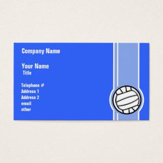 Volleyball; Blauw Visitekaartjes