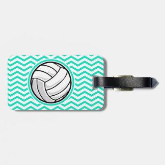 Volleyball; De Groene Chevron van Aqua Kofferlabel