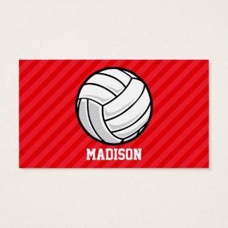 Volleyball; Scharlaken Rode Strepen Visitekaartjes