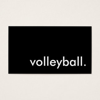 volleyball visitekaartjes