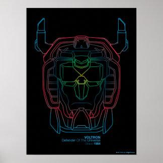 Voltron | Proef HoofdOverzicht van de Gradiënt van Poster