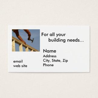 Voor al uw de bouwbehoeften… visitekaartjes