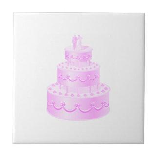 Voor altijd Cake van het Huwelijk van de Liefde de Tegeltje