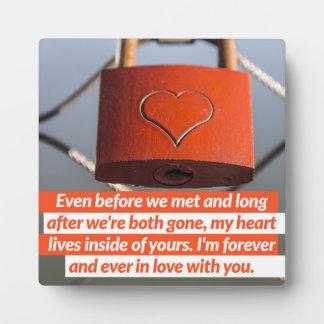 Voor altijd en ooit in Liefde Fotoplaat