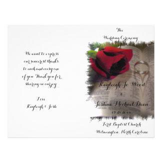 Voor altijd Programma van het Huwelijk van de Flyer 21,6 X 27,9 Cm