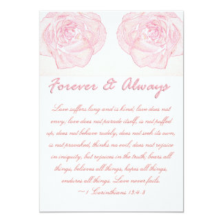 Voor altijd toe & nam altijd het Huwelijk van het 12,7x17,8 Uitnodiging Kaart