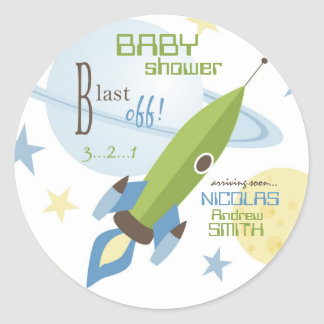 Voor Baby nodigt de Jongen Sticker uit