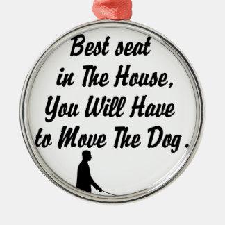 voor Beste Seat op de Algemene Vergadering, het Zilverkleurig Rond Ornament