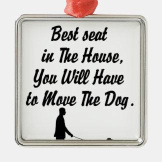 voor Beste Seat op de Algemene Vergadering, het Zilverkleurig Vierkant Ornament