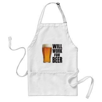 Voor Bier zal werken Standaard Schort