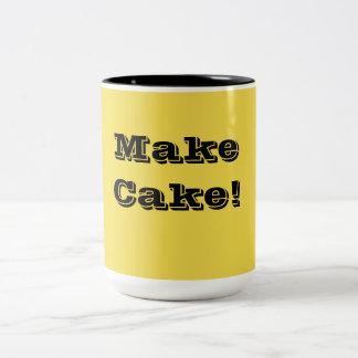 Voor de bakker in u! tweekleurige koffiemok