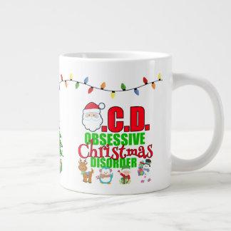 Voor de lichtjes obsessieve persoon van Kerstmis Grote Koffiekop