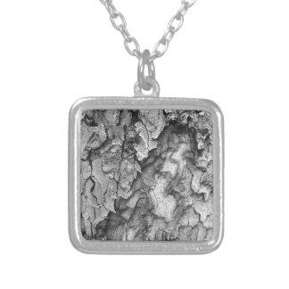 Voor de Liefde van Natuur - Zwarte & Witte Schors Zilver Vergulden Ketting
