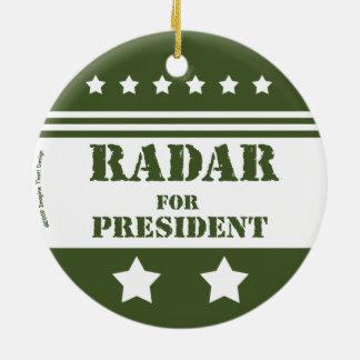 Voor de Radar van het President Rond Keramisch Ornament