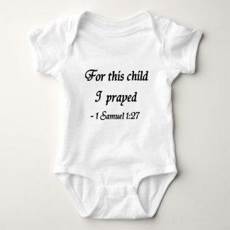 Voor Dit Kind dat ik, 1 1:27 van Samuel heb Romper