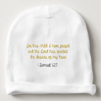 Voor dit Kind dat ik, 1 Samuel Bible heb gebeden Baby Mutsje