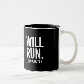 Voor Donuts - Lopende   Geschiktheid - .png zal Tweekleurige Koffiemok
