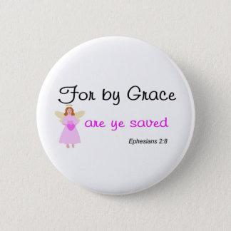 Voor door gunst zijn ye bewaard 2:8 Ephesians Ronde Button 5,7 Cm