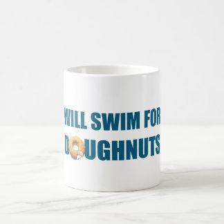 Voor Doughnuts, grappige gift zal zwemmen Koffiemok