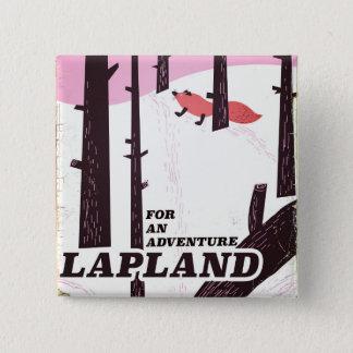 Voor een vintage poster van avonturenLapland Vierkante Button 5,1 Cm
