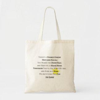 Voor eens en voor altijd Canvas tas