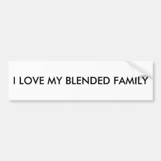 Voor gemengde families bumpersticker