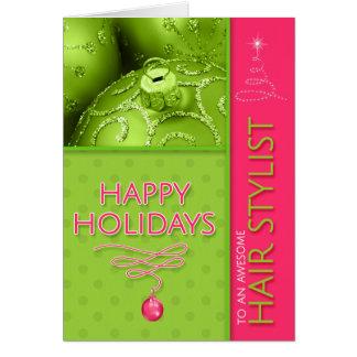 voor Groene Limoen van Kerstmis van de Herenkapper Kaart