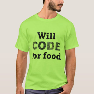 Voor het Overhemd van het Mannen van het Voedsel T Shirt