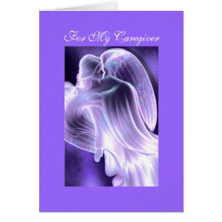 Voor Mijn Caregiver - het Wenskaart van de Engel