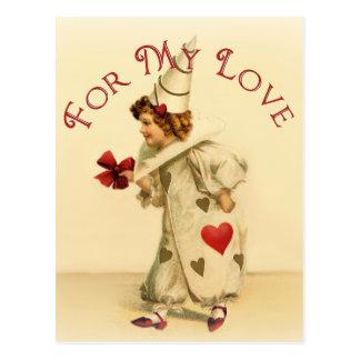Voor Mijn Liefde Vintage Valentijn Briefkaart